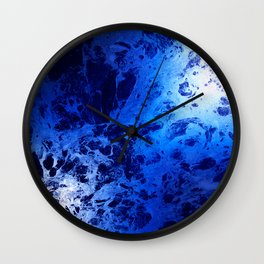 Blue Marble Dream Abstract Wall Clock
