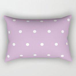 Polka Dots Lavender Lilac Purple Rectangular Pillow