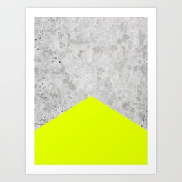 Concrete Arrow - Neon Yellow #521 Art Print