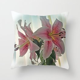 Muscadet Lily Throw Pillow