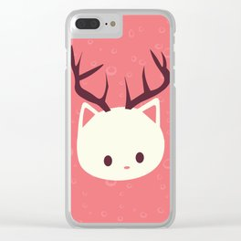 Reindeer Cat Clear iPhone Case