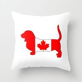 "Basset Hound ""Canada"" Throw Pillow"