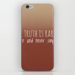 The truth iPhone Skin
