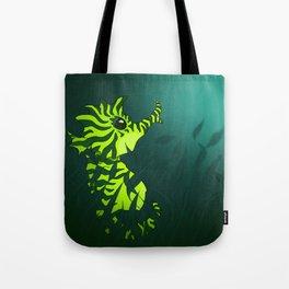 Seaweed Seahorse Tote Bag