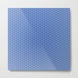 3D Optical Illusion: Blue Star Pattern Metal Print