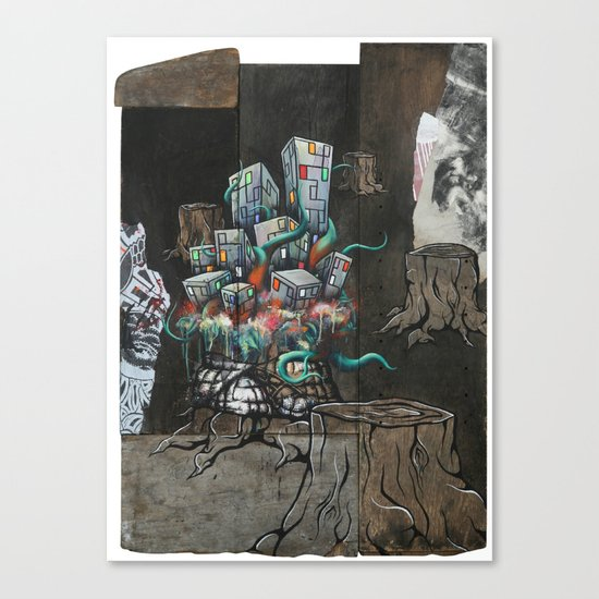 Mending the Stumped Canvas Print