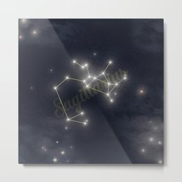 Sagittarius Constellation - Zodiac Metal Print