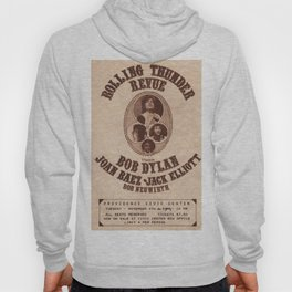 Vintage 1975 Bob Dylan and Rolling Thunder Review Flyer - Poster Providence Concert Hoody