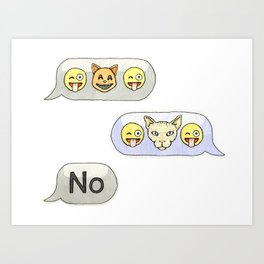 Texting CATastrophe Art Print