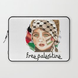 Free Palestine in watercolor Laptop Sleeve