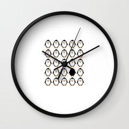 Penguin colony Wall Clock
