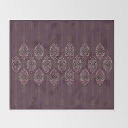 Vintage Burgundy horizontal Throw Blanket