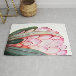 Protea in pink Rug