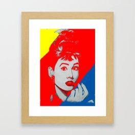 Technicolour Audrey Framed Art Print