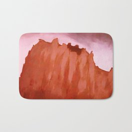 Red ShipRock Mountain Bath Mat