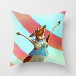 Cowchella - Music Festival Inspired Bovine Throw Pillow