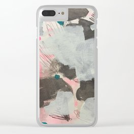 Mint Melodic Clear iPhone Case