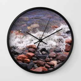 Lake Superior North Shore Wall Clock