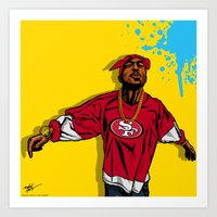 49ers Art Prints featuring 49ERS PAC by Mike Farhat Art Mobb