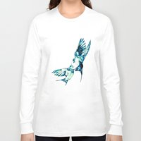 birds Long Sleeve T-shirts featuring Birds by Nuam