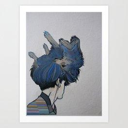 Wolf Coiffure Art Print