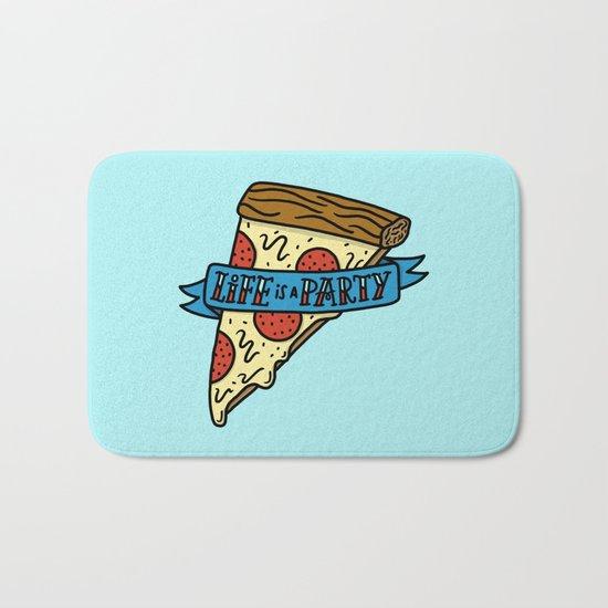 Life is a Pizza Party Bath Mat