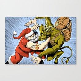 Santa Vs the Krampus Canvas Print
