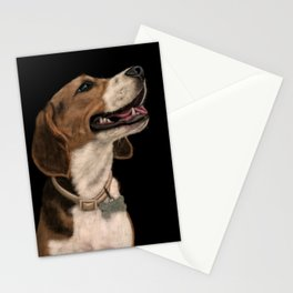 Beagle Dog Painting Stationery Cards