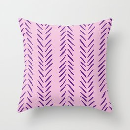 Herringbone Pattern in Purple Throw Pillow
