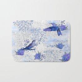Chinoiserie blue Bath Mat