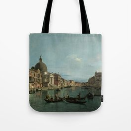 A View of the Grand Canal by Canaletto Tote Bag