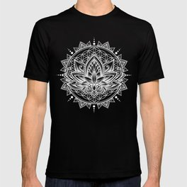 Lotus Mandala - Black T-shirt