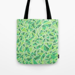 Green Triangles Tote Bag