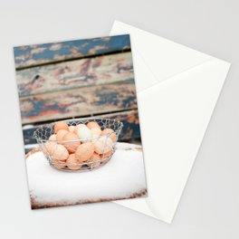 Rustic Snow Eggs Stationery Cards
