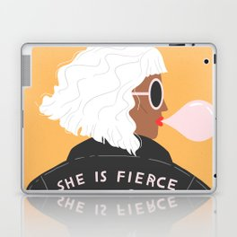 She Is Fierce Laptop & iPad Skin