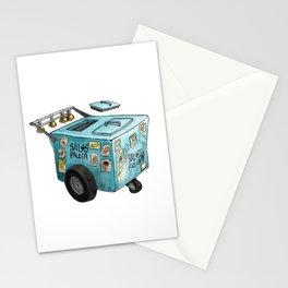 Blue Paletero Ice Cream Cart Stationery Cards