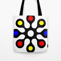 old school Tote Bags featuring Old School by Nancy Smith