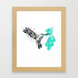 Hummingbird geometric Framed Art Print