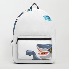 Funny Shark Cartoon Muscle Shark Backpack