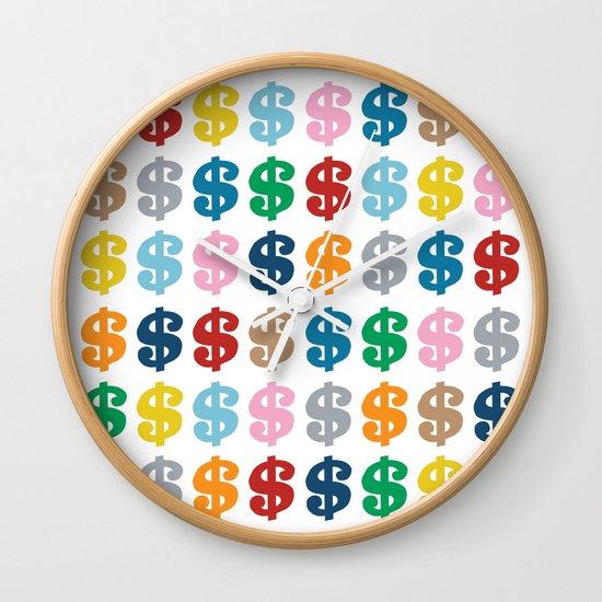 Colourful Money 48 Wall Clock