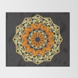 Kaleidoscope of butterflies and flowers Throw Blanket