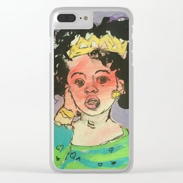Black Queen in training Clear iPhone Case