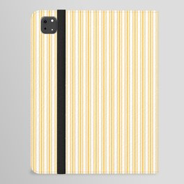 Classic Small Yellow Butter French Mattress Ticking Double Stripes iPad Folio Case