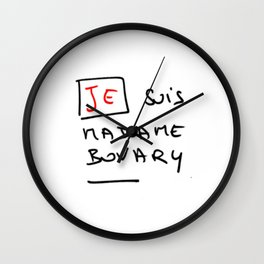Je suis Madame Bovary Wall Clock