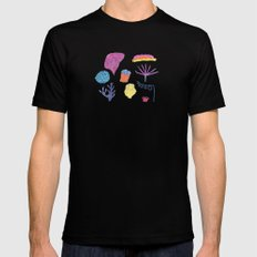 sea flora MEDIUM Mens Fitted Tee Black