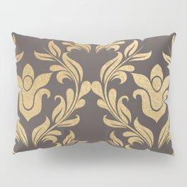 Gold swirls damask #6 Pillow Sham
