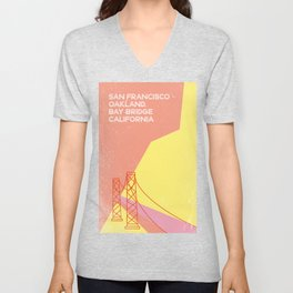 Bridge San Francisco Unisex V-Neck
