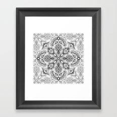 Pattern in Black & White Framed Art Print