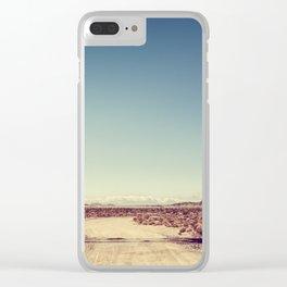Railroad Crossing California desert Clear iPhone Case