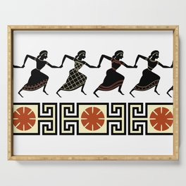 Line of Etruscan Dancers Serving Tray